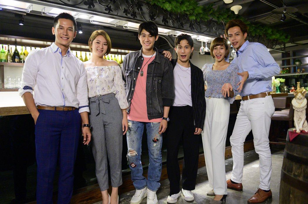 梁瀚名(左起)、楊雅筑、李玉璽、李玉璽、鄭亞、鯰魚哥合作「女力報到」。圖/TVB...