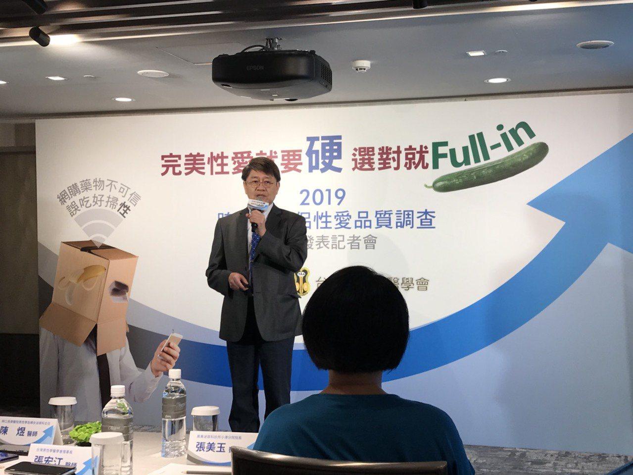 張宏江說,男性勃起硬度不足的比率,會隨著年齡增加而上升,部分結合糖尿病等共病、部...