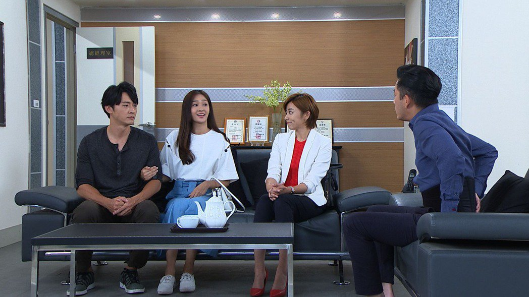 馬俊麟(左起)、邱子芯、王瞳、韓宜邦演出「大時代」。圖/民視提供