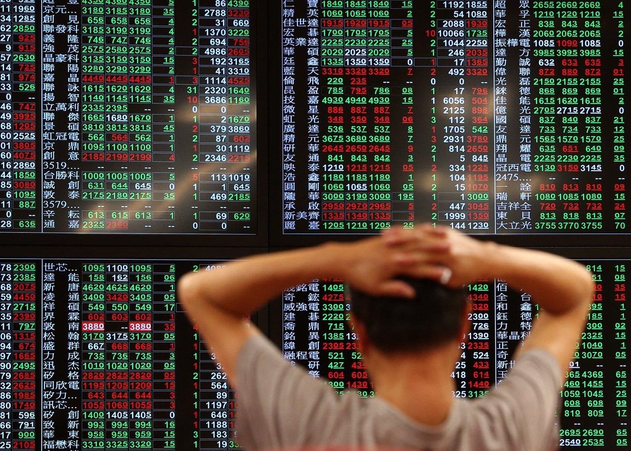 外資及陸資連續5個交易日減碼台股。聯合報系資料照/記者林澔一攝影