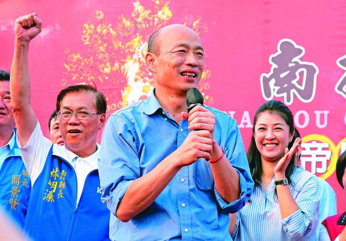 總統路上,韓國瑜被黨員同志攻擊,國民黨迅速開鍘清除障礙。 圖/聯合報系資料照片