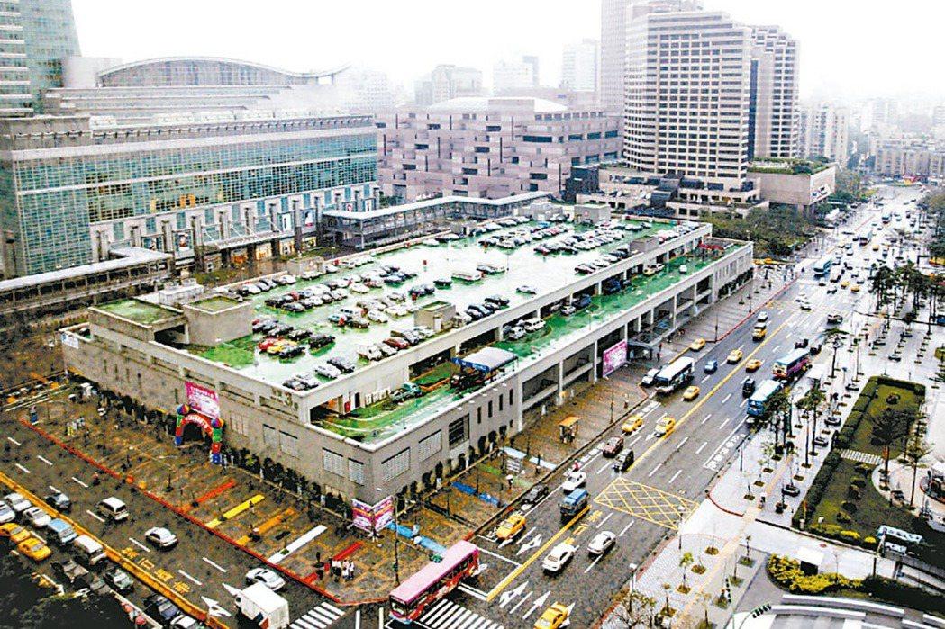 台北市信義區世貿三館地上權案,土地市值上看500億元。 本報系資料庫