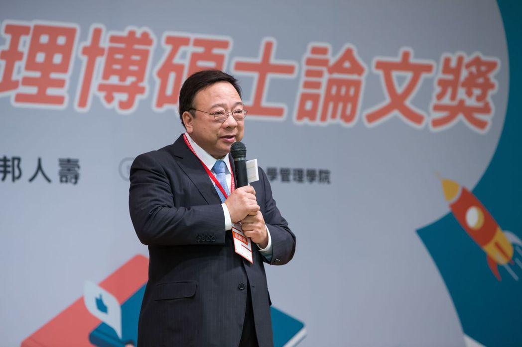 中華民國管理科學學會劉維琪理事長致詞  中華民國管理科學學會/提供