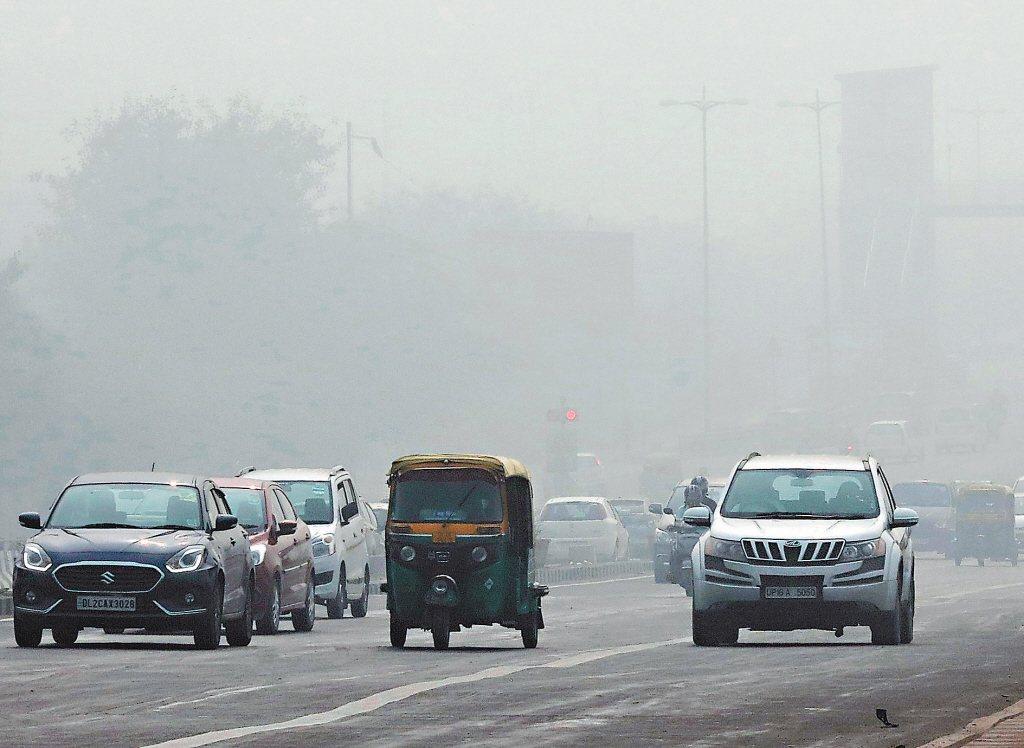 印度首都德里的空氣汙染相當嚴重。 歐新社