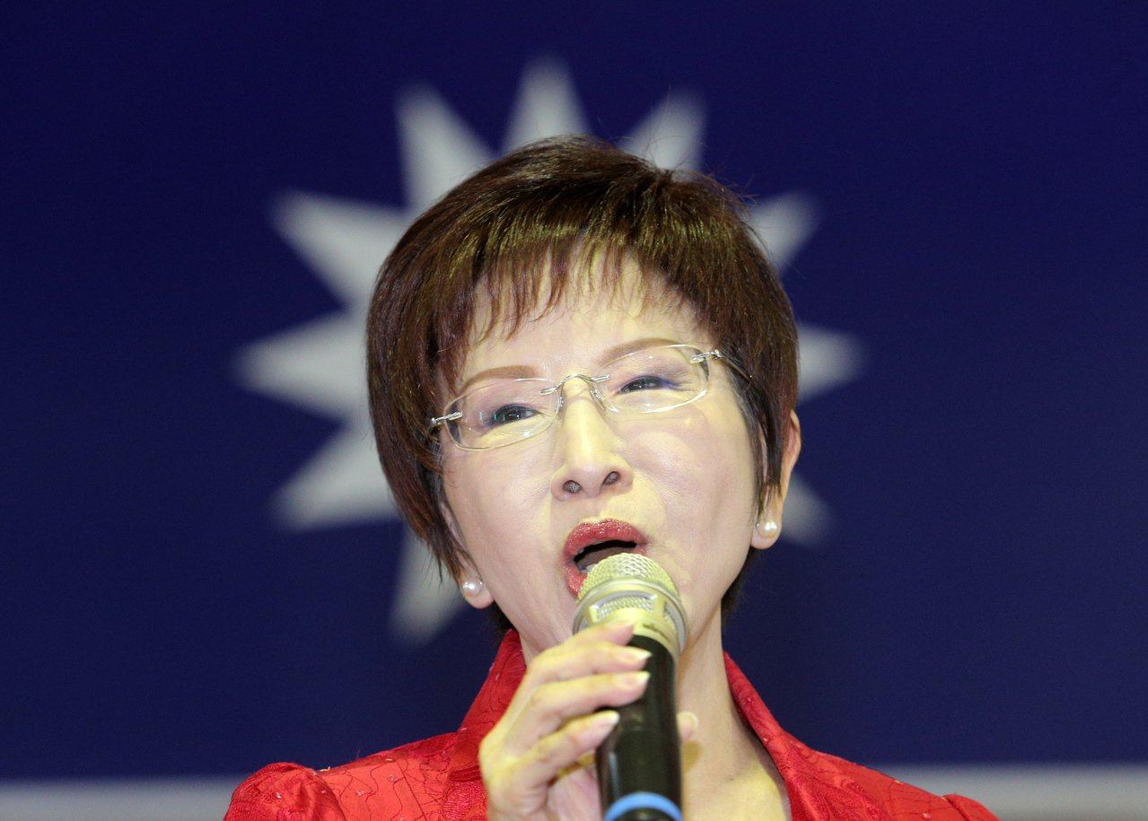 國民黨前主席洪秀柱日前再度提及「一中同表」兩岸論述。 圖/聯合報系資料照片