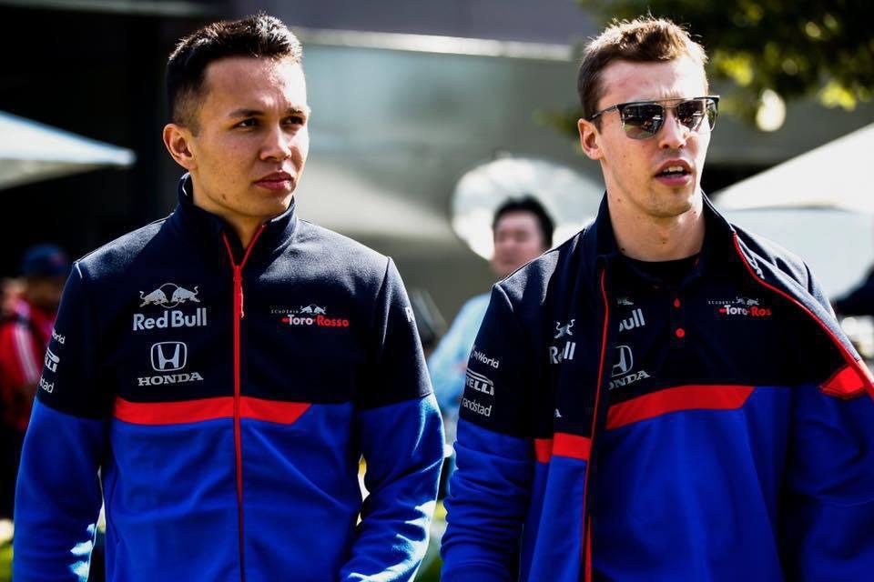Alex Albon(左)與Daniil Kvyat(右)。 摘自Toro Ro...