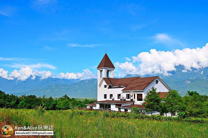 圖/花蓮超夢幻民宿,打開窗就可以看到中央山脈。部落客Ken&Alice玩樂誌授權