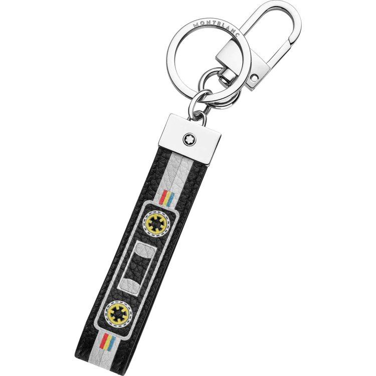 萬寶龍大師傑作粒面軟皮混音卡帶系列混色卡帶鑰匙圈,5,800元。圖/萬寶龍提供