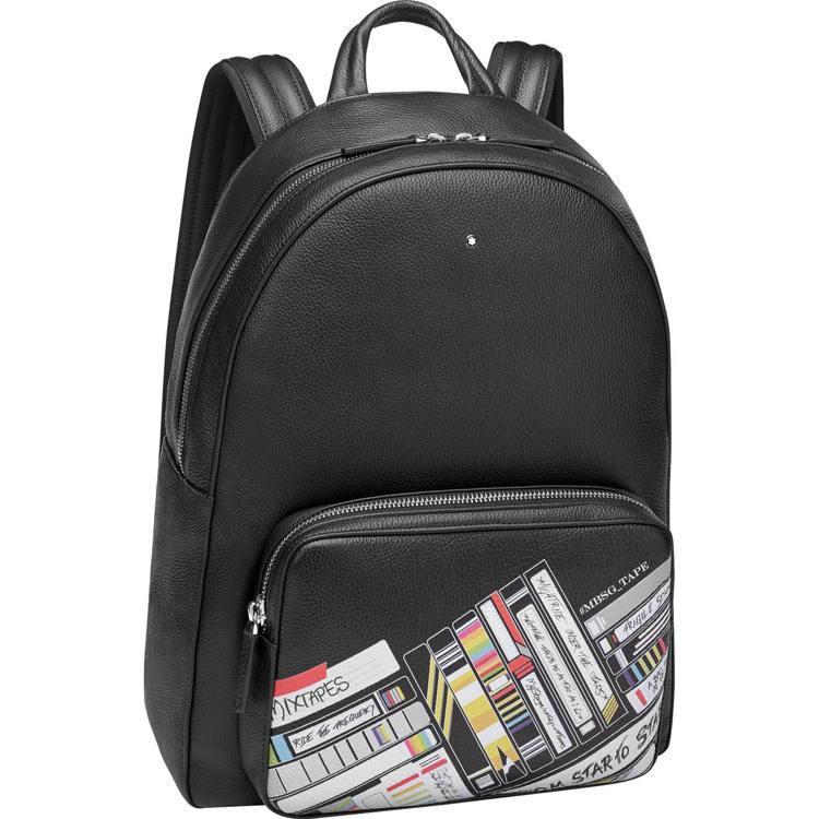 萬寶龍大師傑作粒面軟皮混音卡帶系列後背包,28,100元。圖/萬寶龍提供