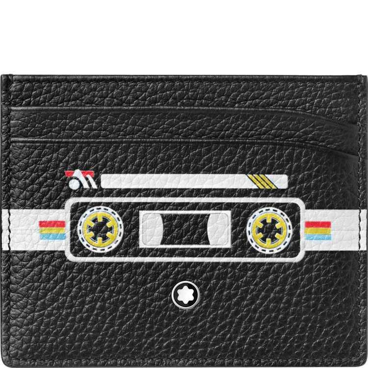 萬寶龍大師傑作粒面軟皮混音卡帶系列五卡卡夾,4,900元。圖/萬寶龍提供