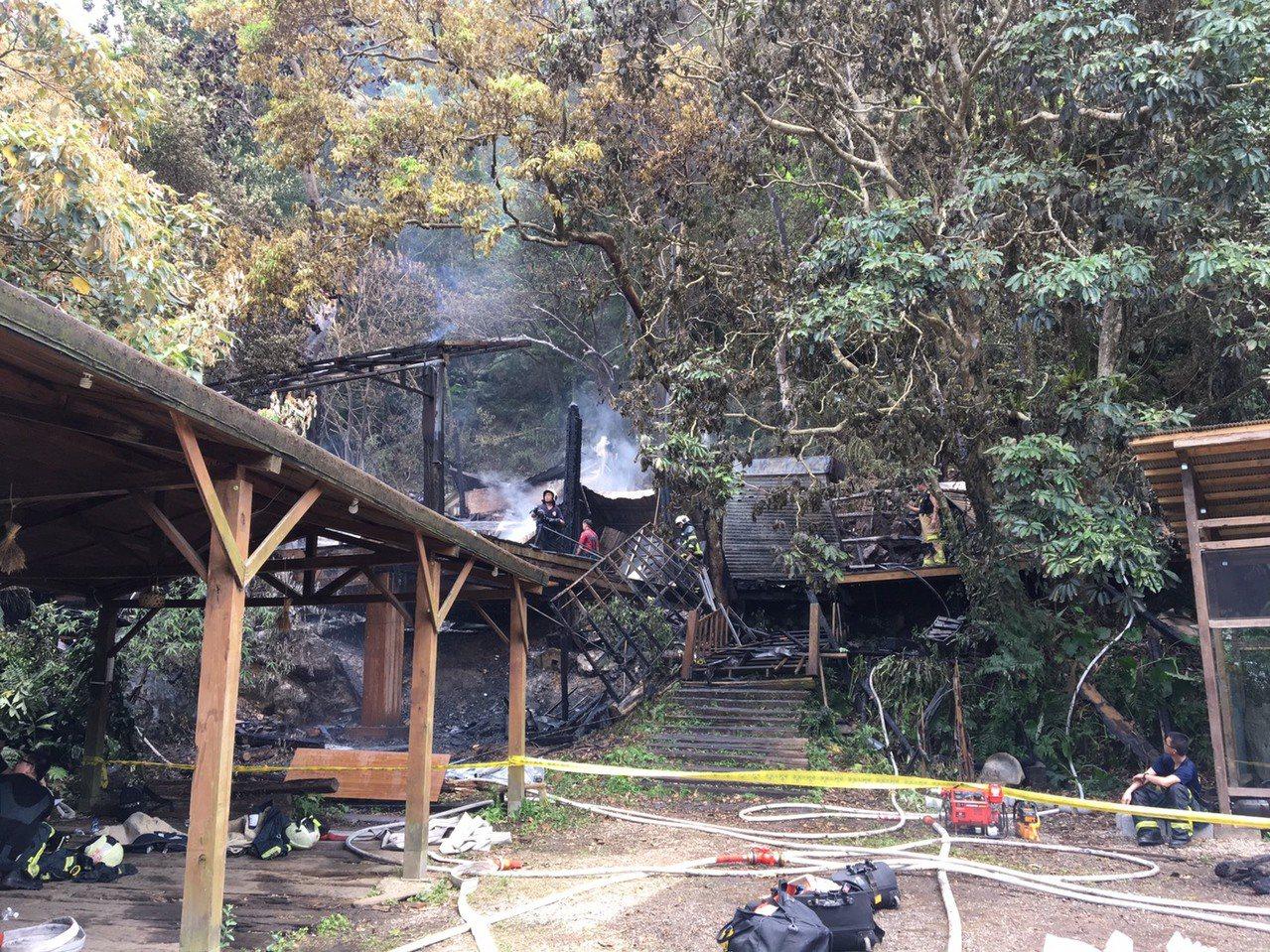優人神鼓劇團的山上老泉劇場,今早遭火焚。圖/優人提供