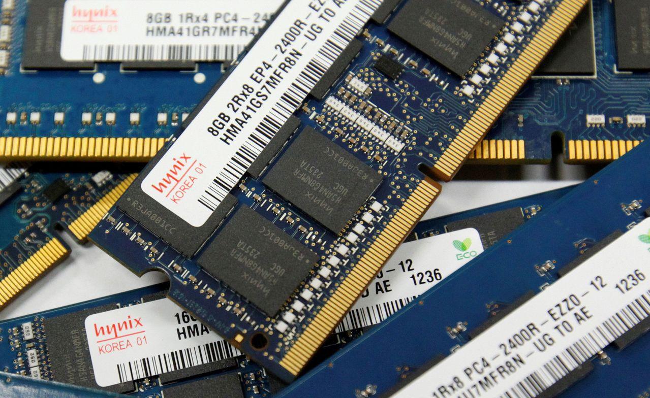 南韓掌握全球七成的DRAM市場。路透