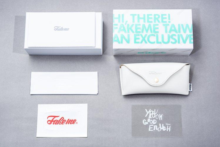 Fakeme台灣限定太陽眼鏡的收藏盒,亦印製了「TAIWAN」字樣,讓人感受到品...