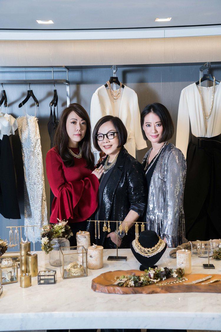 (左起)LinLi Boutique總監黃湘云、林莉老師、Momos march...