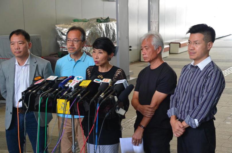 香港民主派斥林鄭月娥言論倒果為因,顛倒黑白。圖/取自星島網