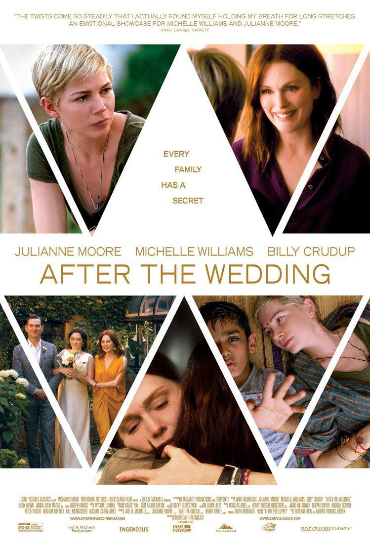 茱莉安摩爾在《你願意嫁給我老公嗎?》劇中配戴蕭邦珠寶腕表,演出富豪企業家。圖/蕭...