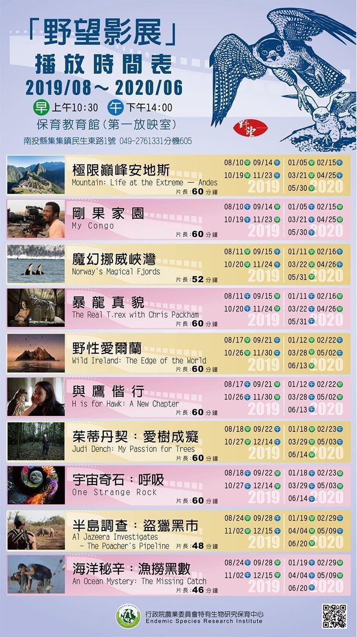 第九屆野望影展本周8月17日起在特生中心開播,20部紀錄片只需花60元。記者黑中...