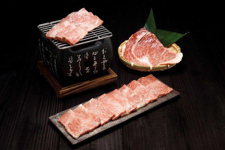 頂級宮崎牛燒烤組。圖/RÒU by T-HAM提供