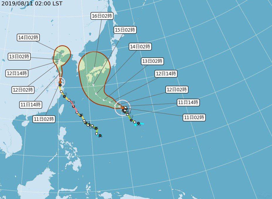 今年第10號颱風柯羅莎朝日本緩慢前進,影響日本九州一帶天氣,需搭機前往旅客要密切留意航班資訊。圖/取自氣象局網站