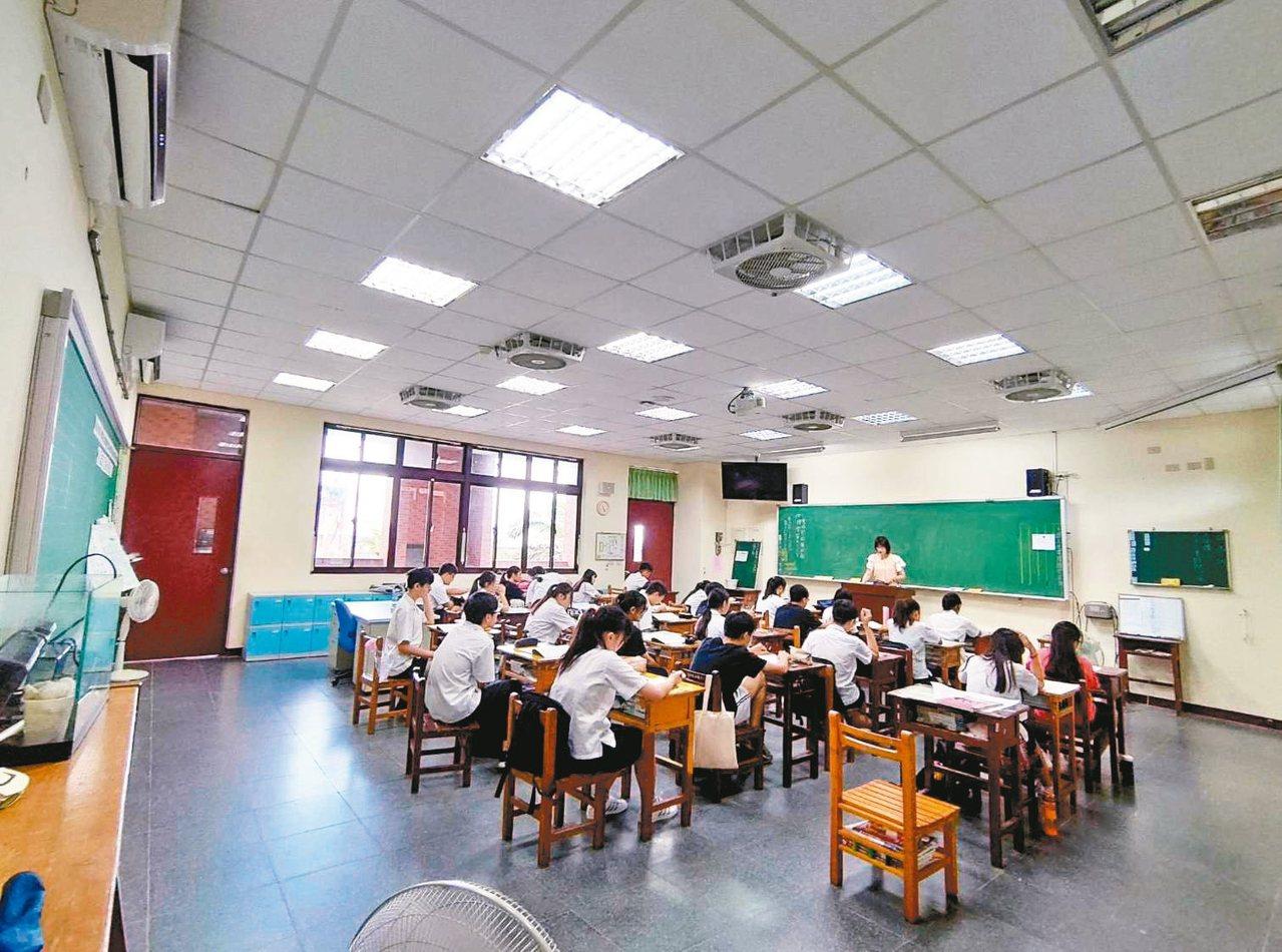新竹市預計今年有第一批學校可裝設冷氣。 圖/教育處提供