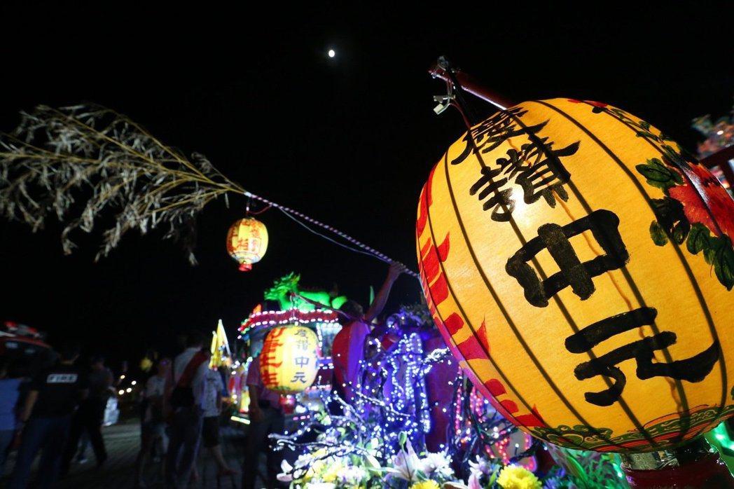 雞籠中元祭放水燈頭是農曆七月的重頭戲。 圖/聯合報系資料照片