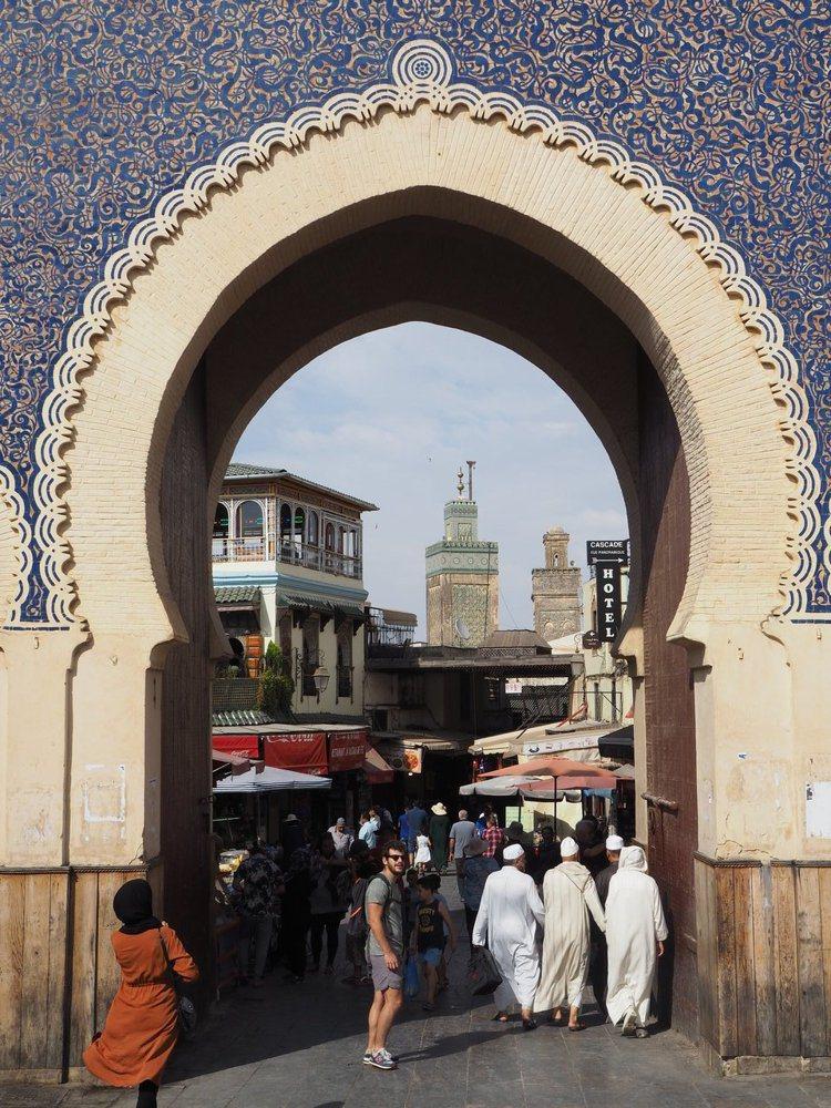 菲斯最知名的城門。記者羅建怡/攝影