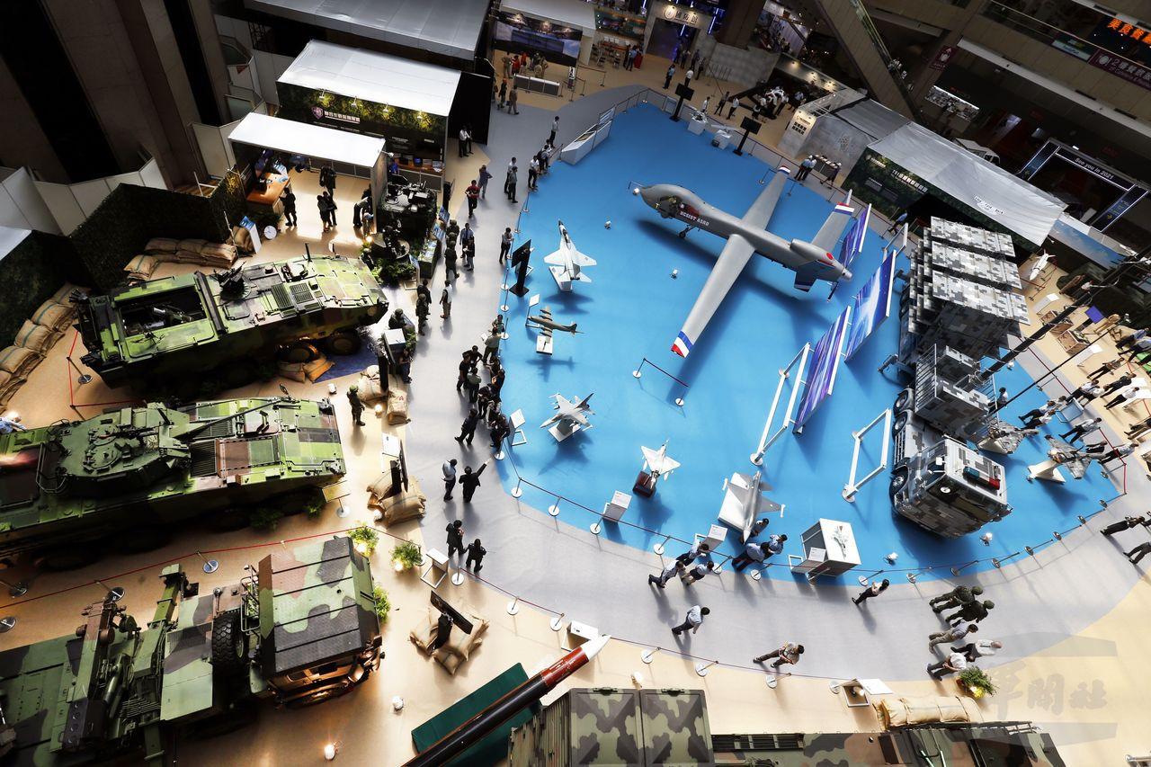 2019台北國際航太國防工業展會場鳥瞰。記者程嘉文/攝影