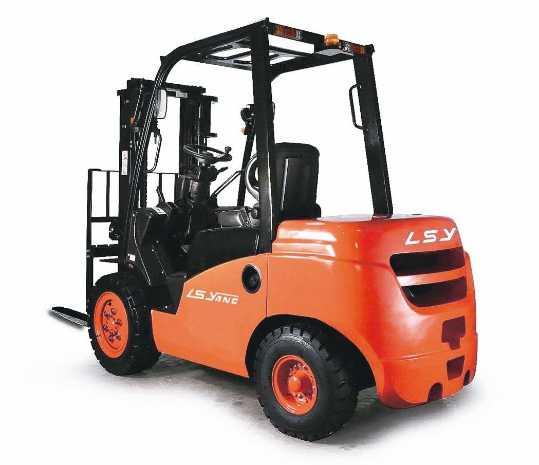 楊鐵重機械製造公司推出的FDM系列堆高機。 楊鐵重機械/提供