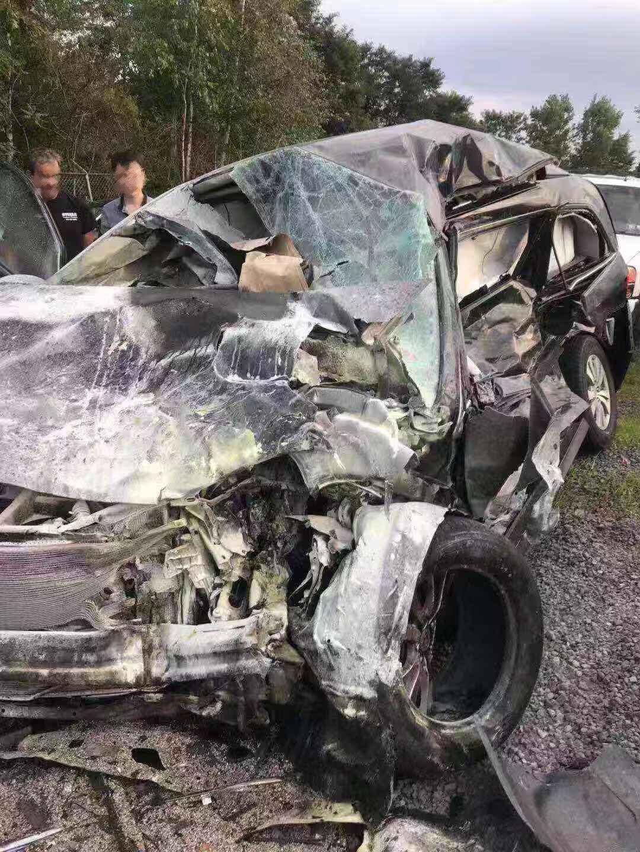 賓州高速六車連撞,肇事車主死亡,紐約華裔車主求償。 (當事人提供)