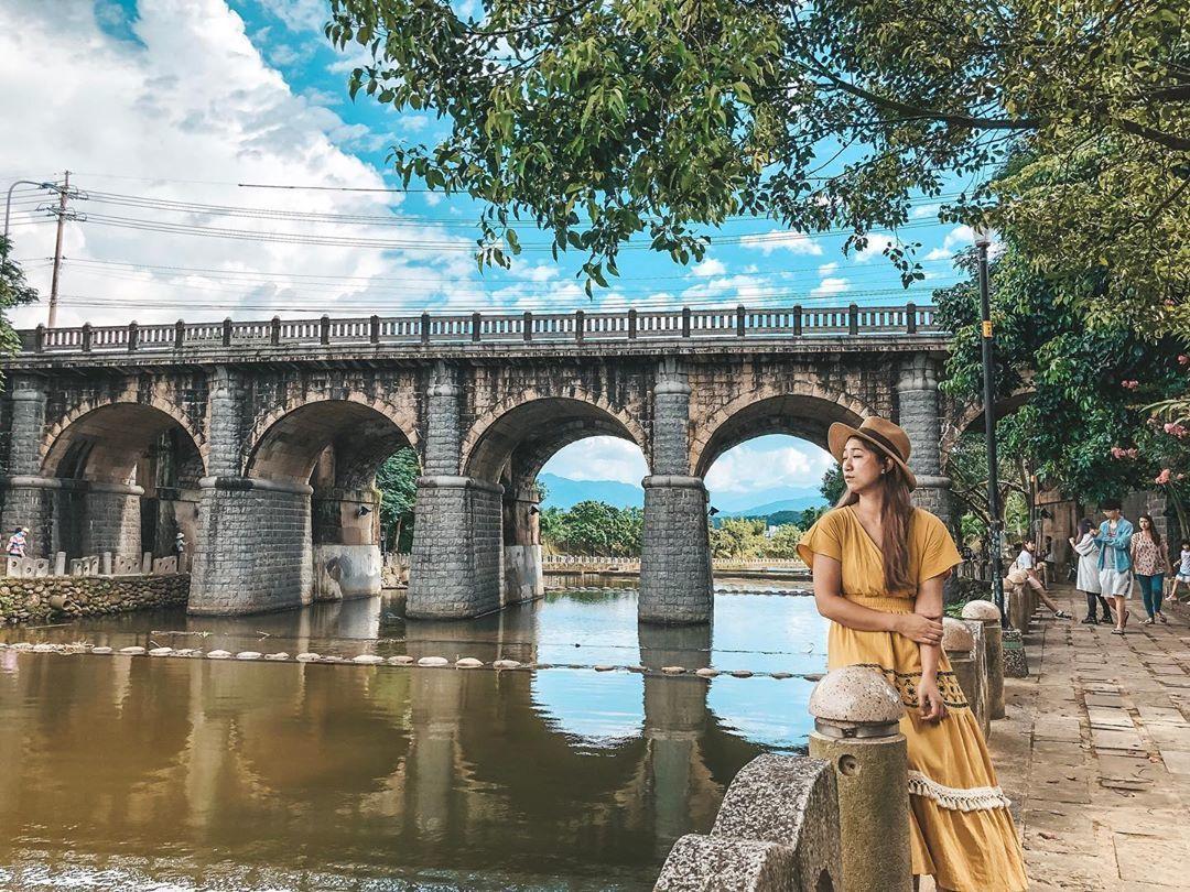 80年歷史的東安古橋充滿典雅日系風味。圖/IG網友fufu811214授權