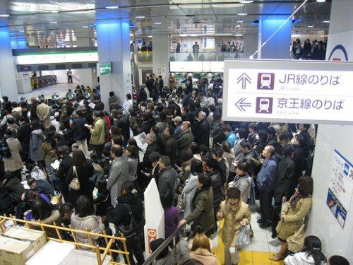 日本新宿車站。 圖片來源/聯合報系