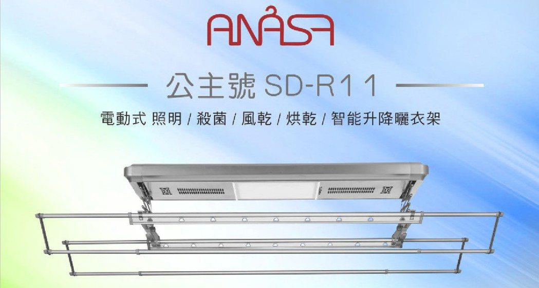 「ANASA安耐曬」多功能電動式SD系列,擁有LED照明、紫外線殺菌、電機風乾等...