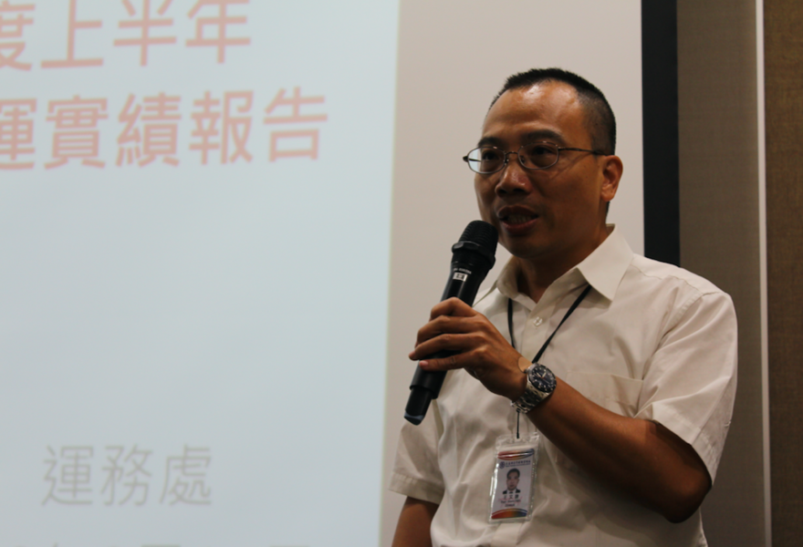 台鐵14日公布上半年營運成果,王文謙表示,每日平均載客量較去年同期微幅成長0.9...