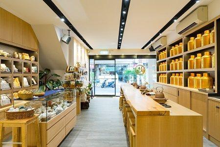 「新純香款茶舖」整體品牌形象變得明亮而清新。 (圖/台北市商業處)