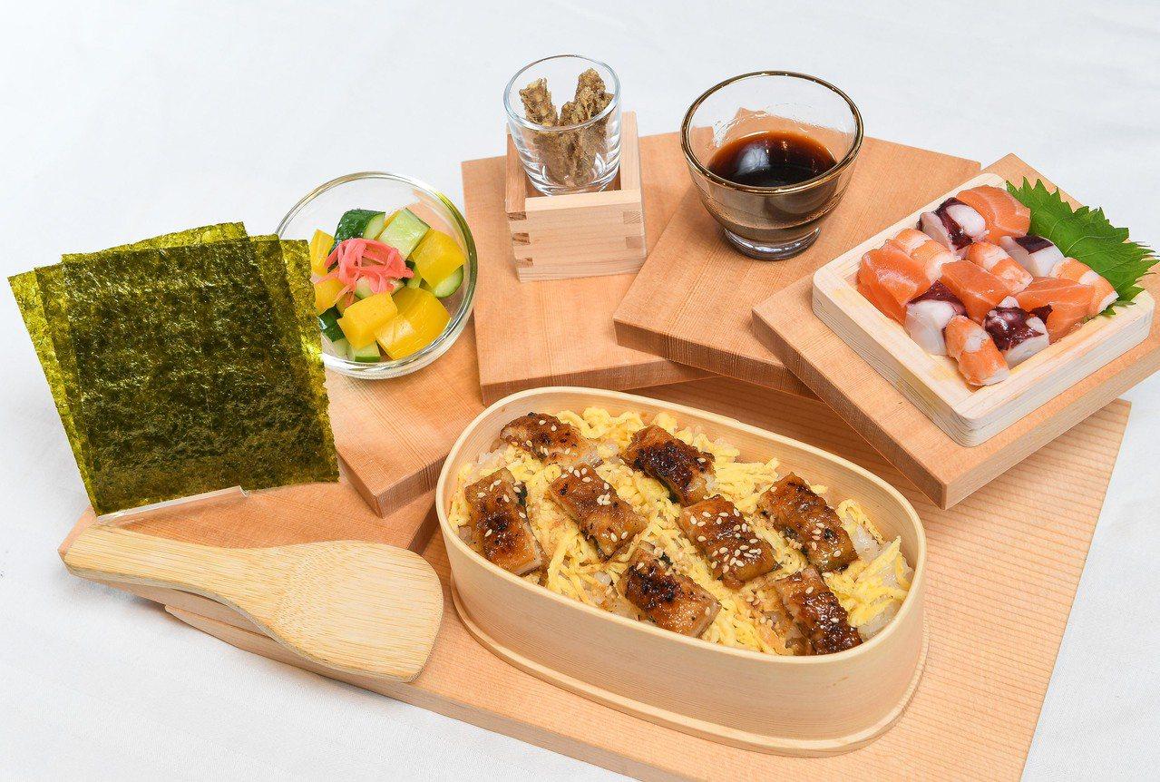 鰻魚散壽司御膳 ,每份480元。圖/鰻重總本家提供