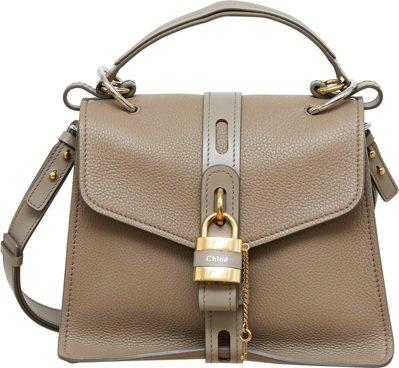 Aby灰色小型鎖頭包,售價69,700元。圖/Chloé提供