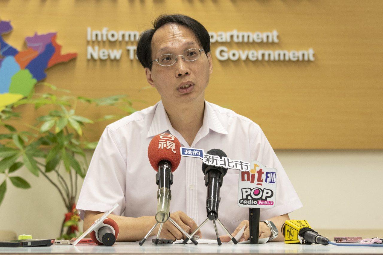 新北衛生局副局長許朝程開記者會說明。記者王敏旭/攝影