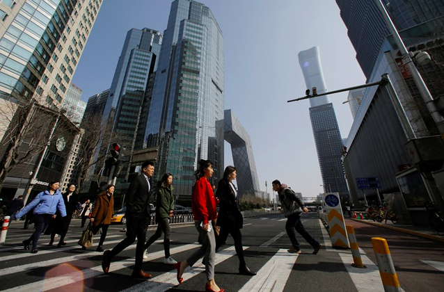中國大陸7月經濟繼續在合理區間運行,但經濟下行壓力加大。(路透資料圖片)