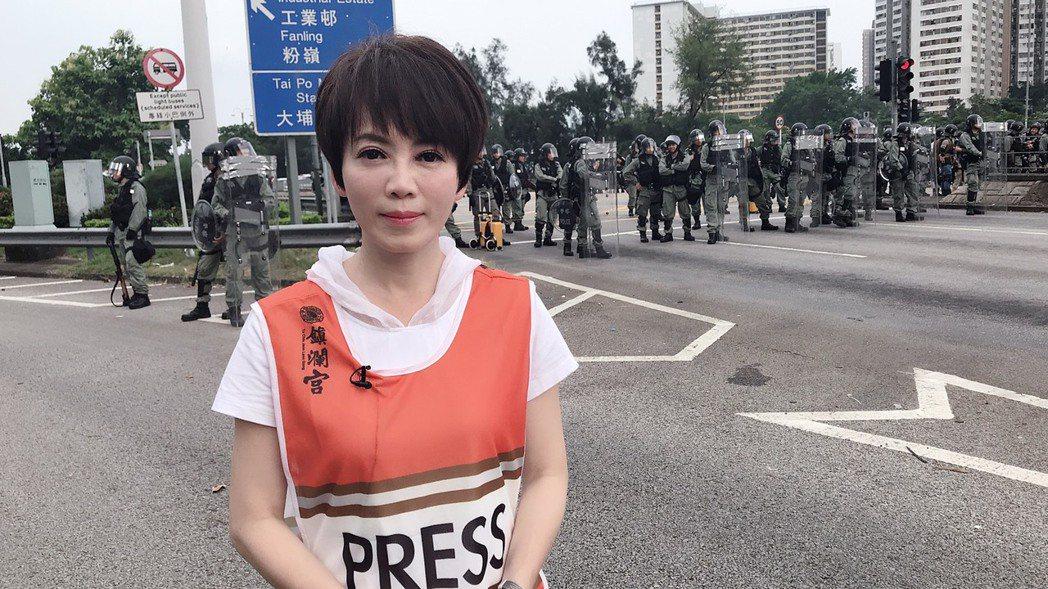 壹新聞主播陳雅琳親赴香港採訪。 圖/壹電視提供