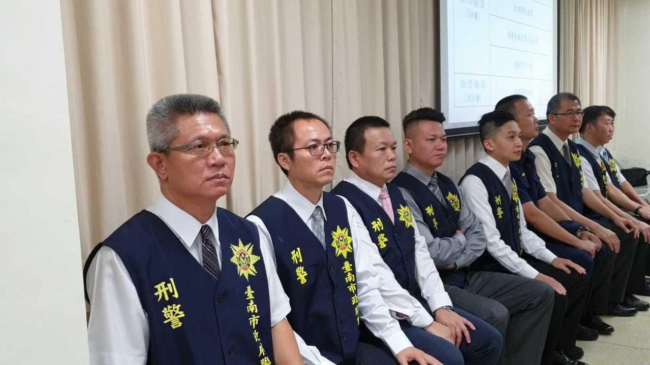 台南仁德槍擊案迅速破案,警方表揚有功人員。圖/台南市政府警察局提供