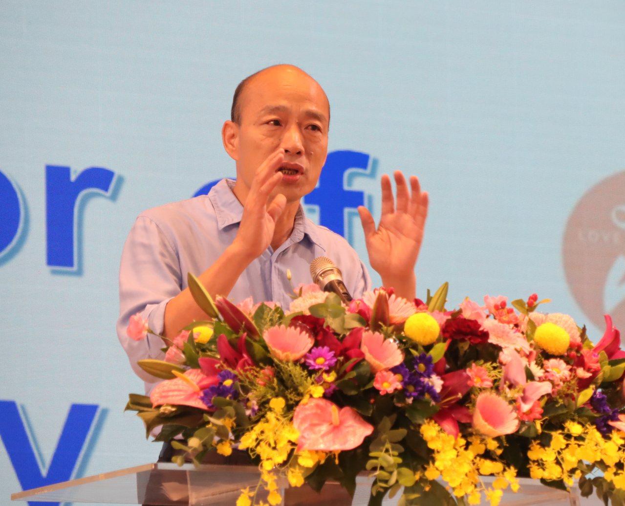 高雄市長韓國瑜再度重申推動雙語教育的重要,要讓高雄市的孩子接軌國際,看見世界。記...