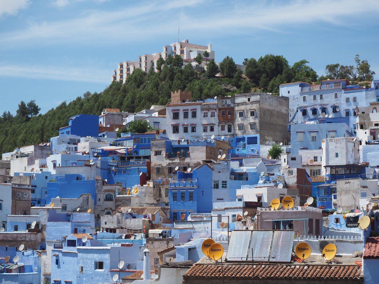 藍色城市登高更美。記者羅建怡/攝影