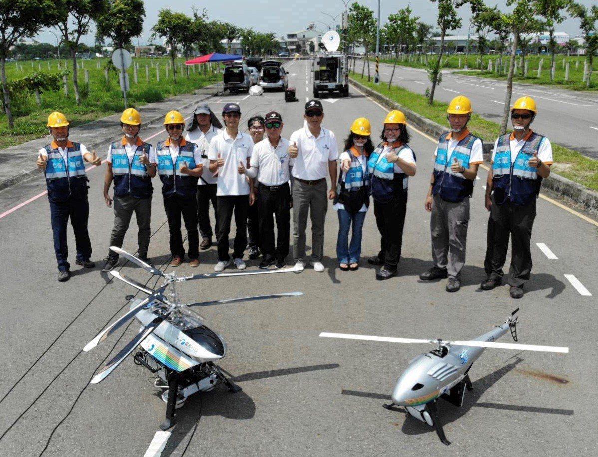 中華電、雷虎合作展出「空中基地台系統」。(圖:中華電提供)