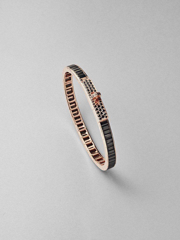 Kelly Baguettes系列玫瑰金鑲黑尖晶石手環,266萬5,100元。圖...