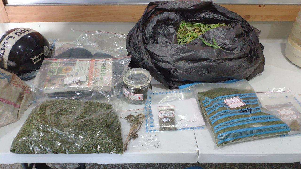 警方查扣大麻成品、半成品。記者謝進盛/攝影