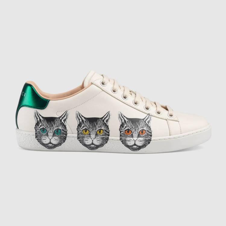 Gucci貓咪印花Ace系列運動鞋(女),29,600元。圖/Gucci提供