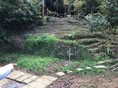 農地水土保持輔導前,長期有土地流失問題,影響菜園收成。圖/新北市農業局提供