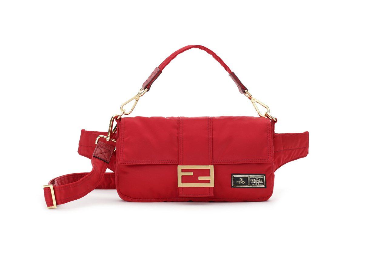 FENDI與PORTER聯名系列Baguette包,約71,000元。圖/FEN...