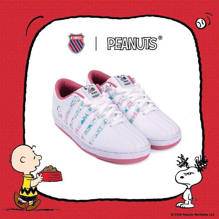 K-SWISS和PEANUTS聯名系列Classic 88 鞋款,售價2,780...