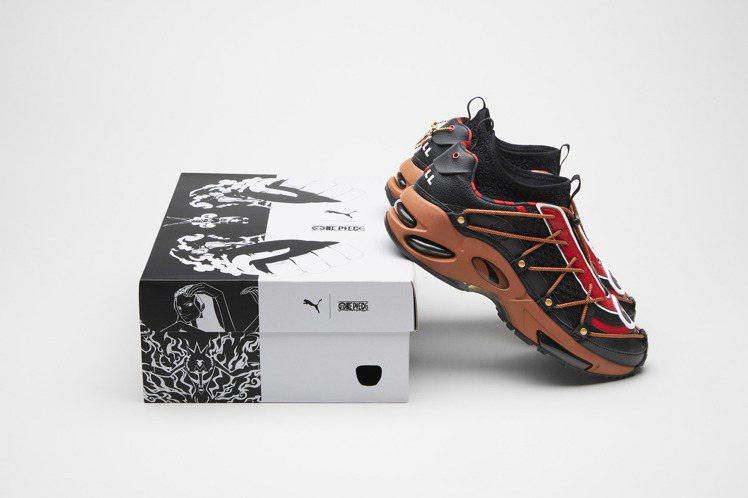 PUMA攜手「航海王」推出20周年限定鞋款。圖/PUMA提供